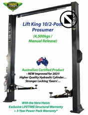Lift King 2 Post Car Service Hoist, supplied with a 3-Phase Powerpack...